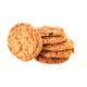 sweet and crispy oat chocolate chip cookies and biscuits choco