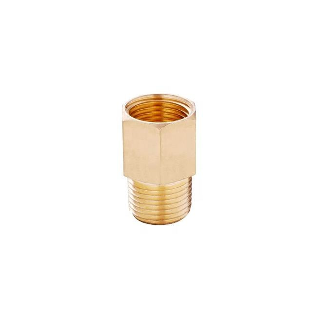 Good Quality BSP Threaded CP Brass Extension Pipe Fittings And Hex Nipple For Plumbing An Sanitary Parts