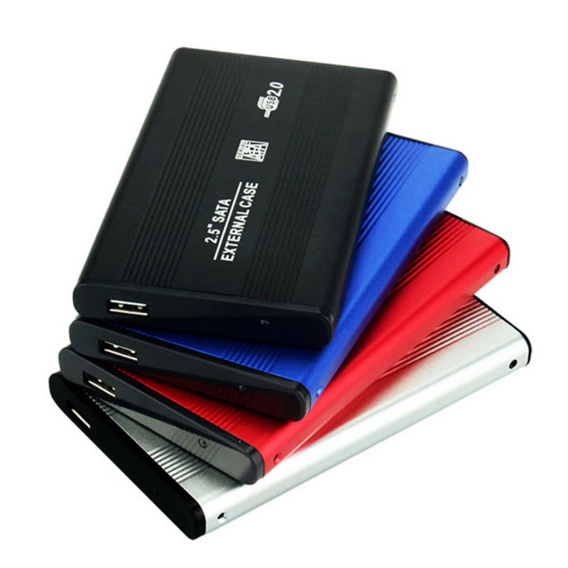 Aluminum Alloy portable external storage 2.5 Inch external hard disk drive adapter enclosure