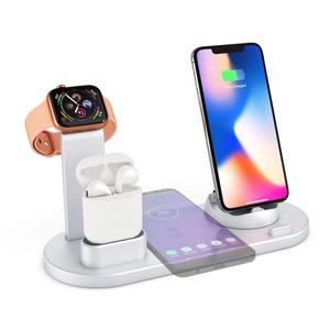 New Design Fast Qi Wireless Charger 4 in 1 Wireless Charging Stand Dock Station For Apple Watch For 11 pro max