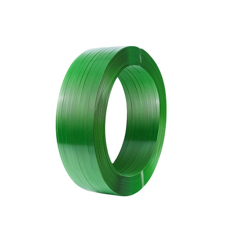 2020 Hot Selling Green PET Strapping Band Embossed Polyester Strapping Band