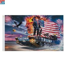 2020 Donald Trump Flag on Tank Keep America Great For President USA