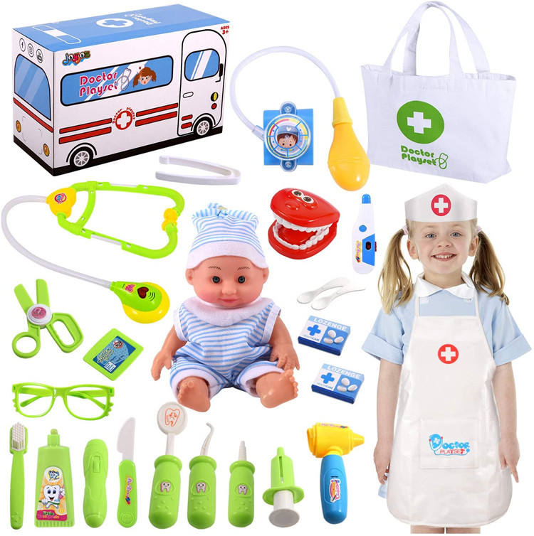 Wholesale cheap kids toy electronic stethoscope kids doctor toy kit for preschool