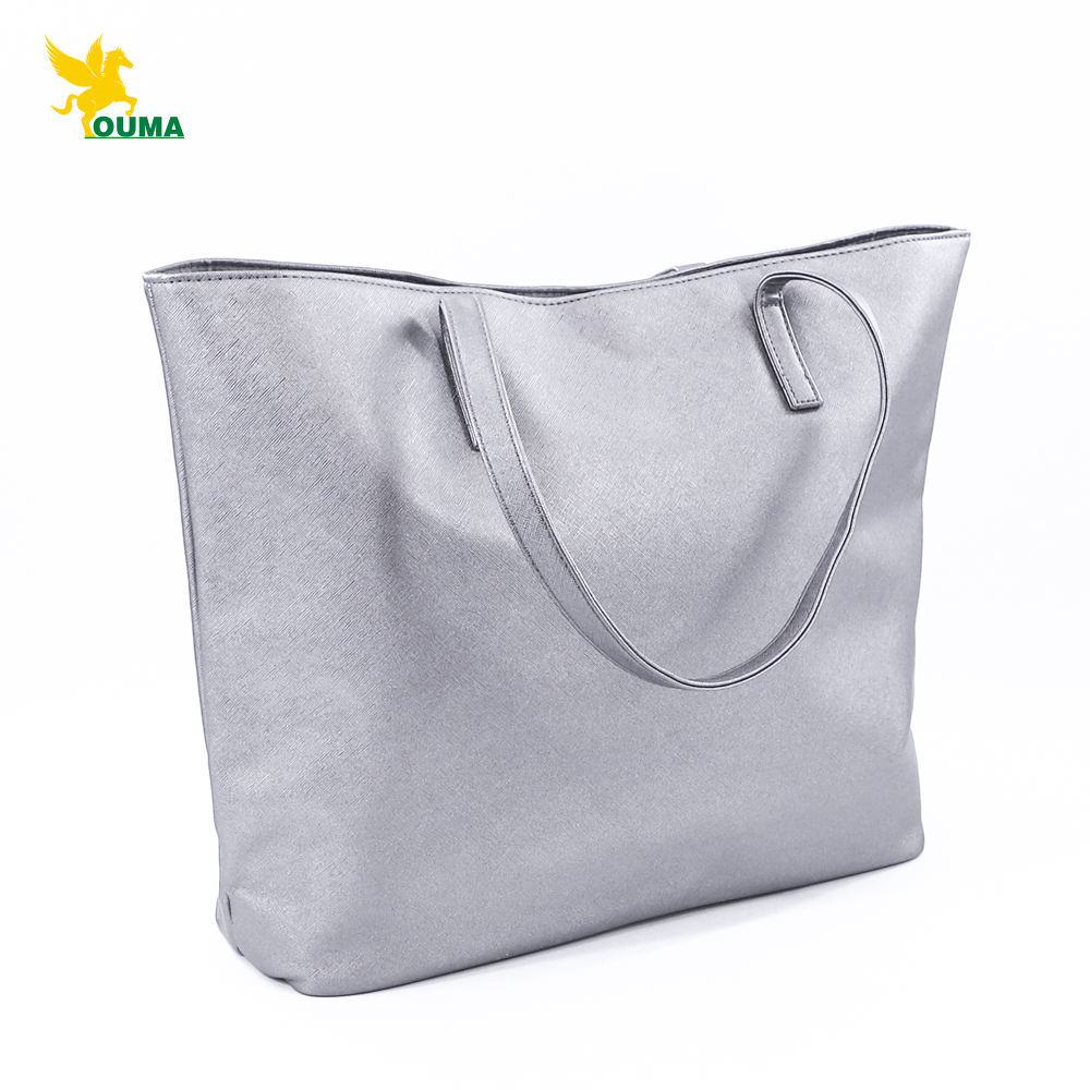 New Fashion Customizable Logo Cross Pattern PU Leather Handbag Lady Hand Bag