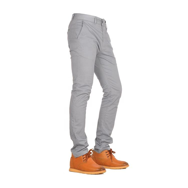 High quality polyester spandex sale corded regular fit pant cotton india smart chino trousers for men