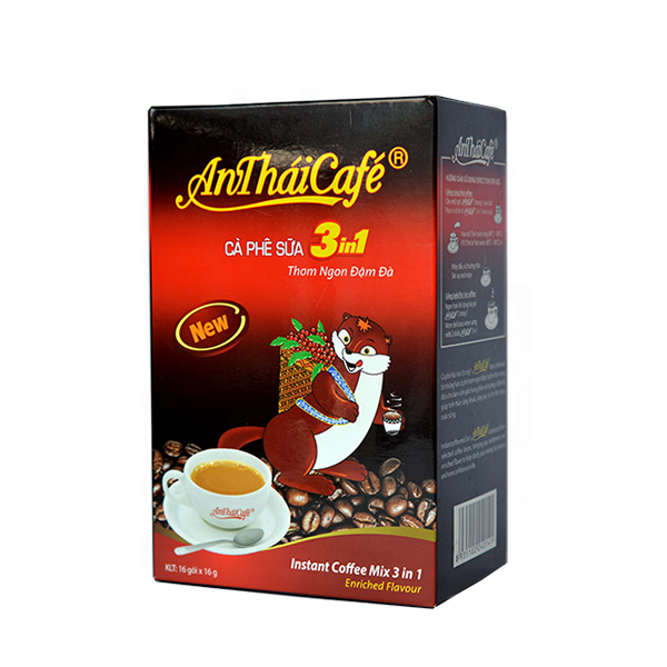 Cheapest Price Instant Coffee Powder 3 in 1 used for espresso coffee machine or coffee vending machine with An Thai Brand Name