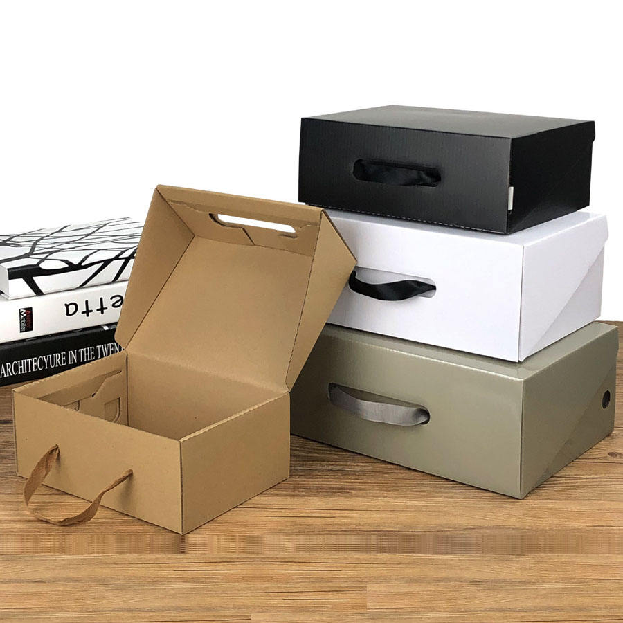 custom shoe boxes with custom logo wholesale pp shoe packaging box Corrugated kraft paper standard shoe box size