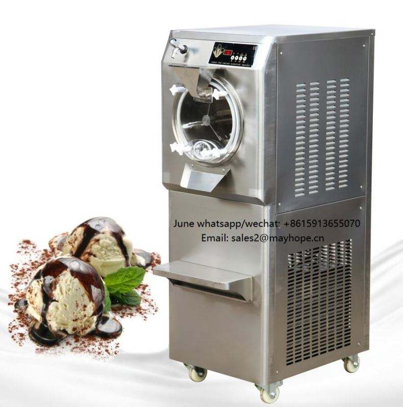 304 stainless steel 20-25L/H fry ice cream gelato machine fried rolling yogurt square flat pan with four freezers in price