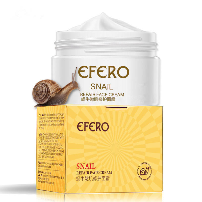 Efero Organic Face Cream Moisturizing Shrinking Pores Brightening Skin Snail Cream