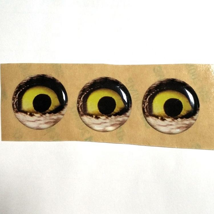 Custom Make Waterproof Round Epoxy Sticker Sheet 3M Adhesive 1 inch 25mm Eye Epoxy Stickers