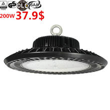 5 years warranty CE,TUV GS,SAA,ETL,cETL DLC 100W 150W 200w 240W 130LM/W 150LM/W 60,90,120degree UFO led high bay light
