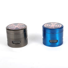 Hottest 4 Parts Custom Herb Crusher Rainbow Ice Blue Metal Zinc Alloy Smoking Grinder