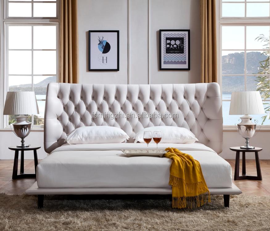 Мебель для дома Европа и Америка Стиль Современный Белый Итальянский синтетический искусственная кожа king queen размеры кровать