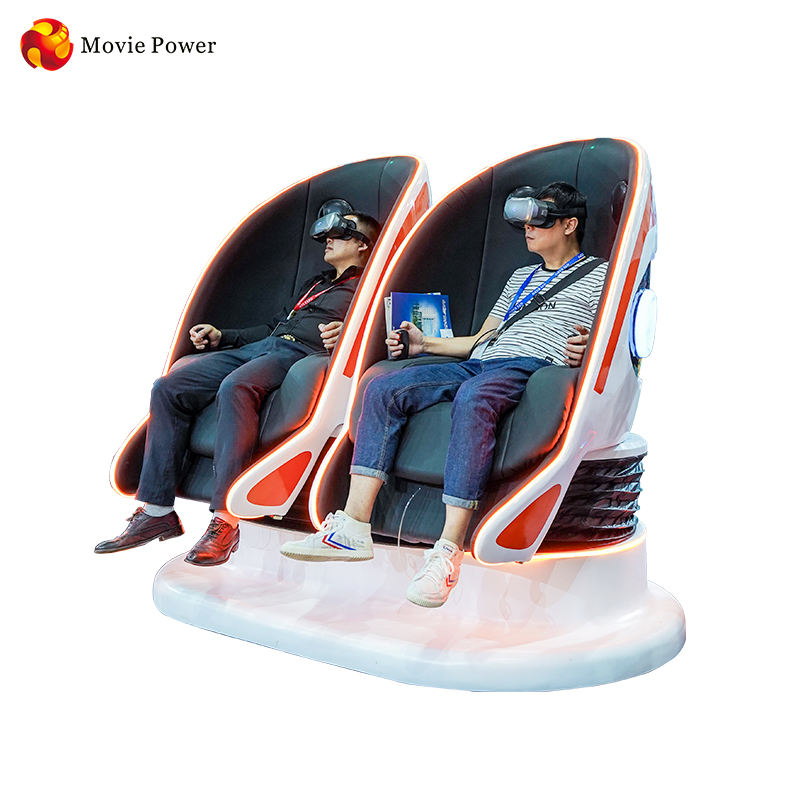 Earn Money 9D Egg VR Box cinema Simulator Entertainment Virtual Reality Roller Coaster 9D Egg Chair Arcade game 2 Seats Cinema