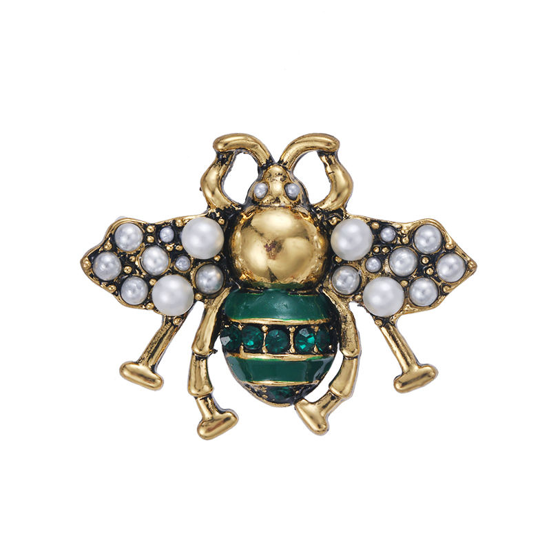 Top Sales Zinc Alloy Animal Enameled Insect Bee Brooches Pins for clothing decor