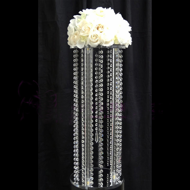 VONVIK Clear Tall Acrylic Flower Decorative Wedding Columns Pedestal