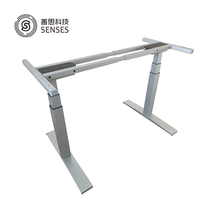 Electric Height rising 3-stage Adjustable steel Table lift Base Leg for Sit to Stand up standing computer motorized Desk