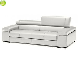 Leisure home White leather Kuka sofa With Metal Legs Convertible Living Room Furniture