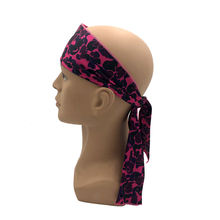 Wholesale custom logo stretchy designer headband sports elastic hair bands long scarf durag sweatband