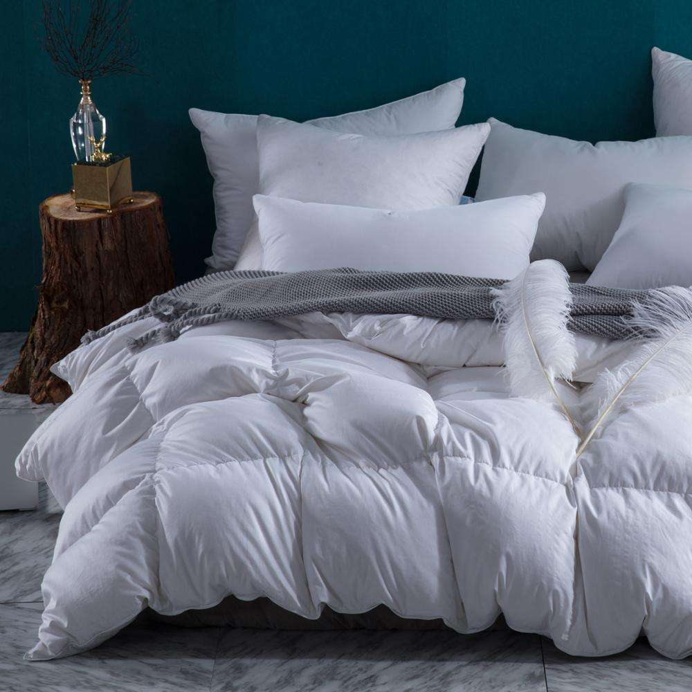Extra Full Feather Egyptian Cotton Shell Superior Hotel Collection Comforter White Goose Down Comforter Duvet Inner