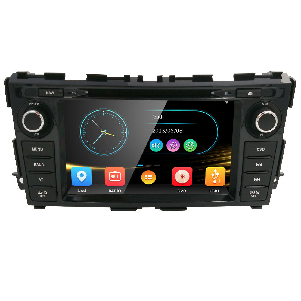 Im Armaturen brett 8 Zoll Stereo Radio GPS Navigation Auto CD DVD-Player passen Nissan Altima 2013 2014