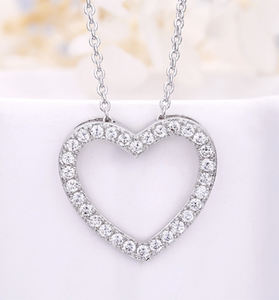 18k Gold Jewelry Heart Necklace For Women Love Pendant