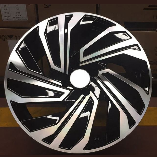 Black finishing Jante 17 inch new open mould for Germany 4/5*100/113 replica alloy wheels
