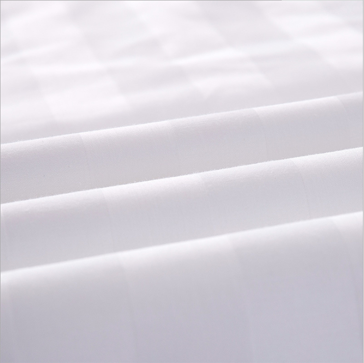 "100% Cotton 60S*40S 300TC White Sateen Fabric 110"" /285Cm width in roll for Hotel Use"