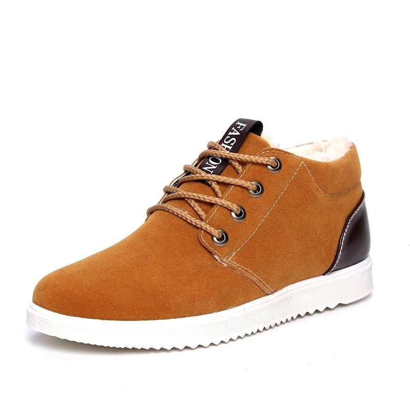 Promotion High Quality Men Winter Warm Shoes Suede Shoes For Men