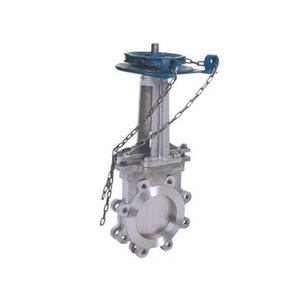 PZ73 Slag Discharge Manual chain wheel Knife Gate Valve