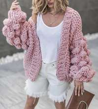 hot sell fashion lady's casual handmade flower knitting acrylic sweater