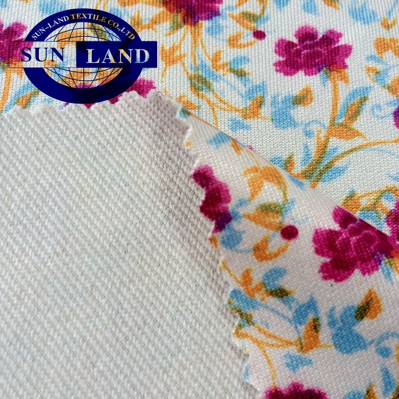 Chinese direct production SUBLIMATION AND DIGITAL PRINT polyester ammonia multicolor printing fabrics