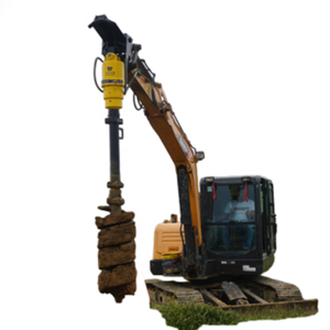 Hydraulic tree planting digging machines hole digger excavator attachment