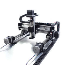 3-axis xyz linear stage cnc gantry robot 50-2000mm 4 axis cnc xyz linear guide linear xy table for robotic arm