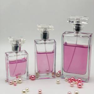 Free Sample Luxury Clear Empty Glass Perfume Pump Sprayer Bottle 30ML 50Ml 100Ml