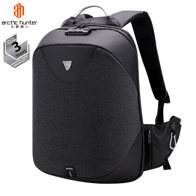 All Black Backpack for Men Waterproof Bagpack School Business Bags USB Charging Laptop Anti Theft Backpack with TSA Lock