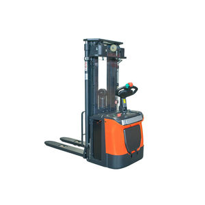 Nuoli full electric stacker truck hydraulic lifting fork station driving type pallet truck storage stacker truck