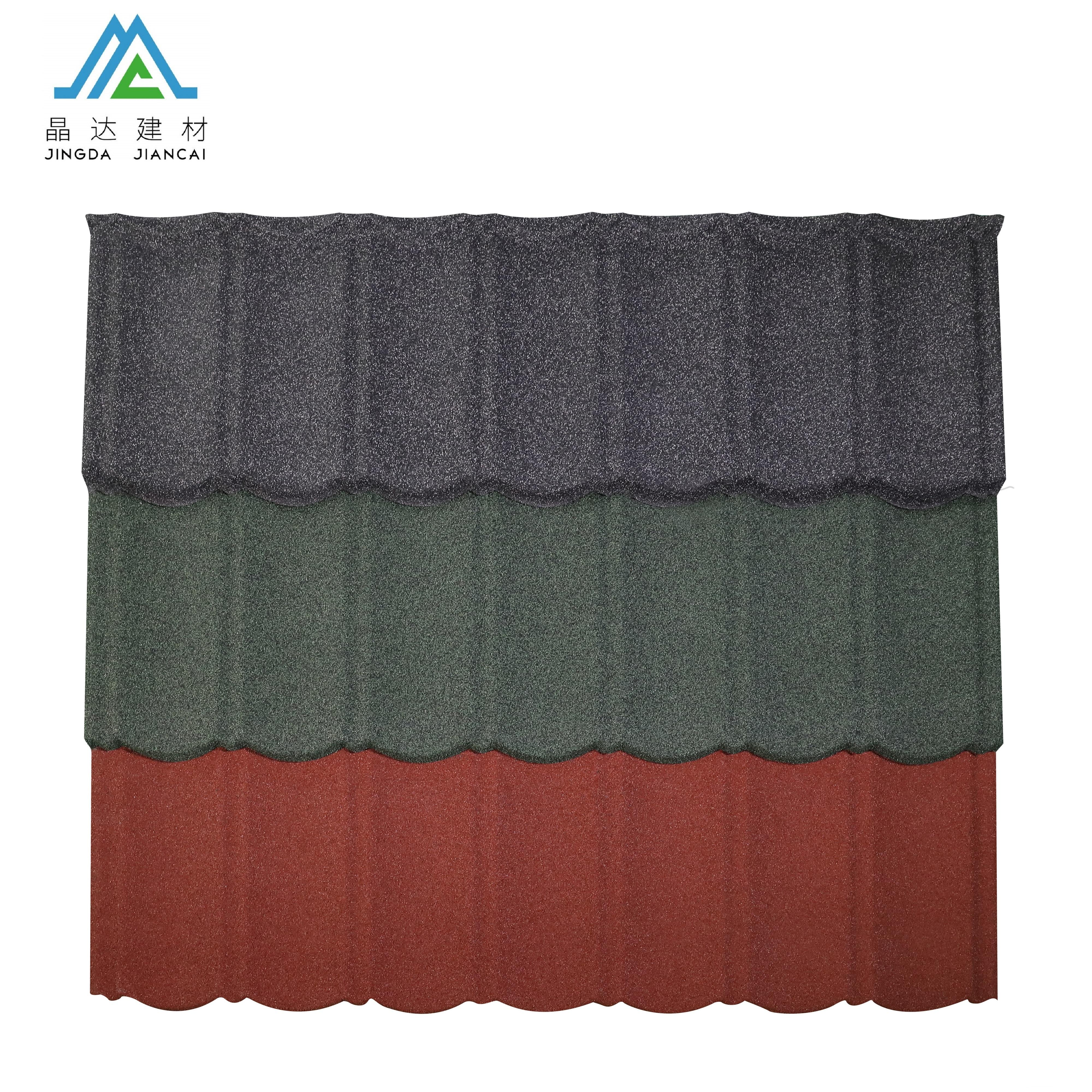 Red Stone Coated Wholesale Corrugated Metal Roofing Sheet, Eaves Tiles Metal Roofing Material