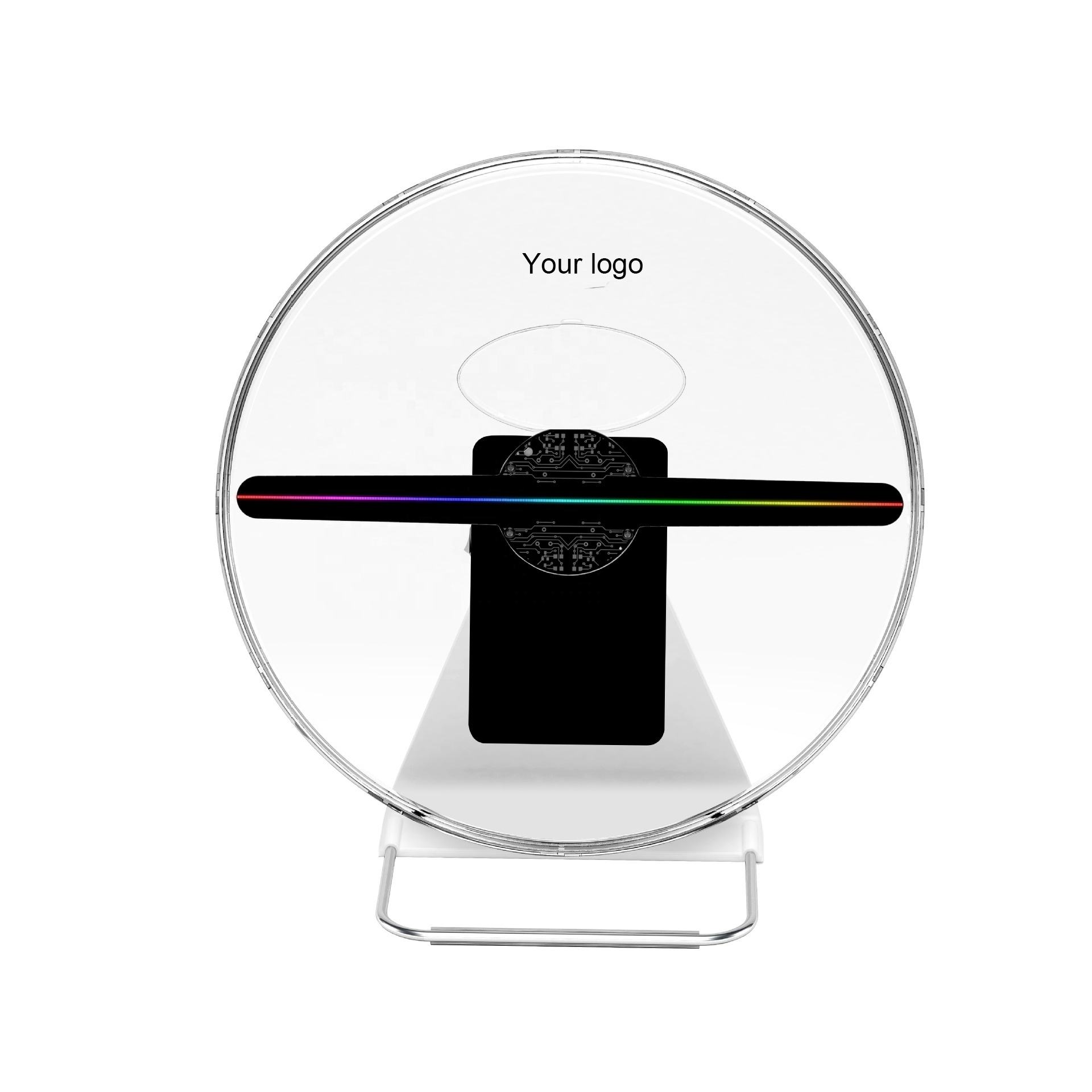 Rechargeable Table Top LED Display Advertising 3D Hologram LED Fan 30cm Mini 3D Hologram Customize Logo Acceptable