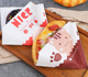 Two sides open burger wrapping bag waterproof greaseproof paper bag