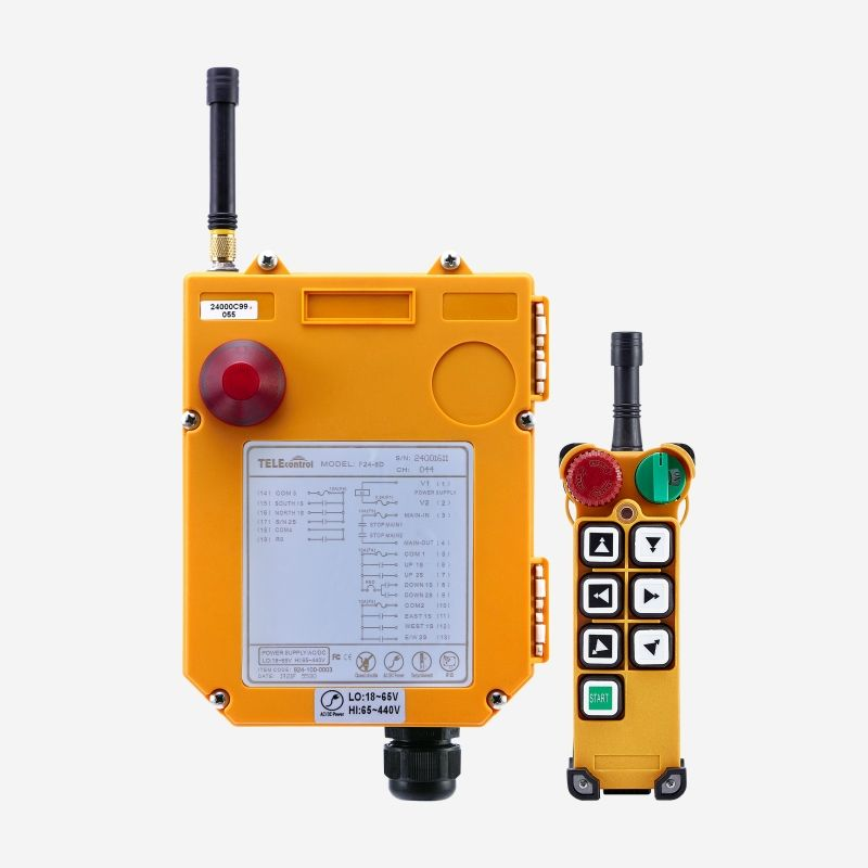 UTING Industrial wireless Crane Remote Control system F24-6D for Concrete pump truck automobile manufacturing