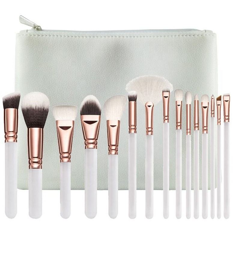 2020 Terbaik Jual Produk 15 Pcs Kosmetik Custom Make-Up Brush Set Makeup