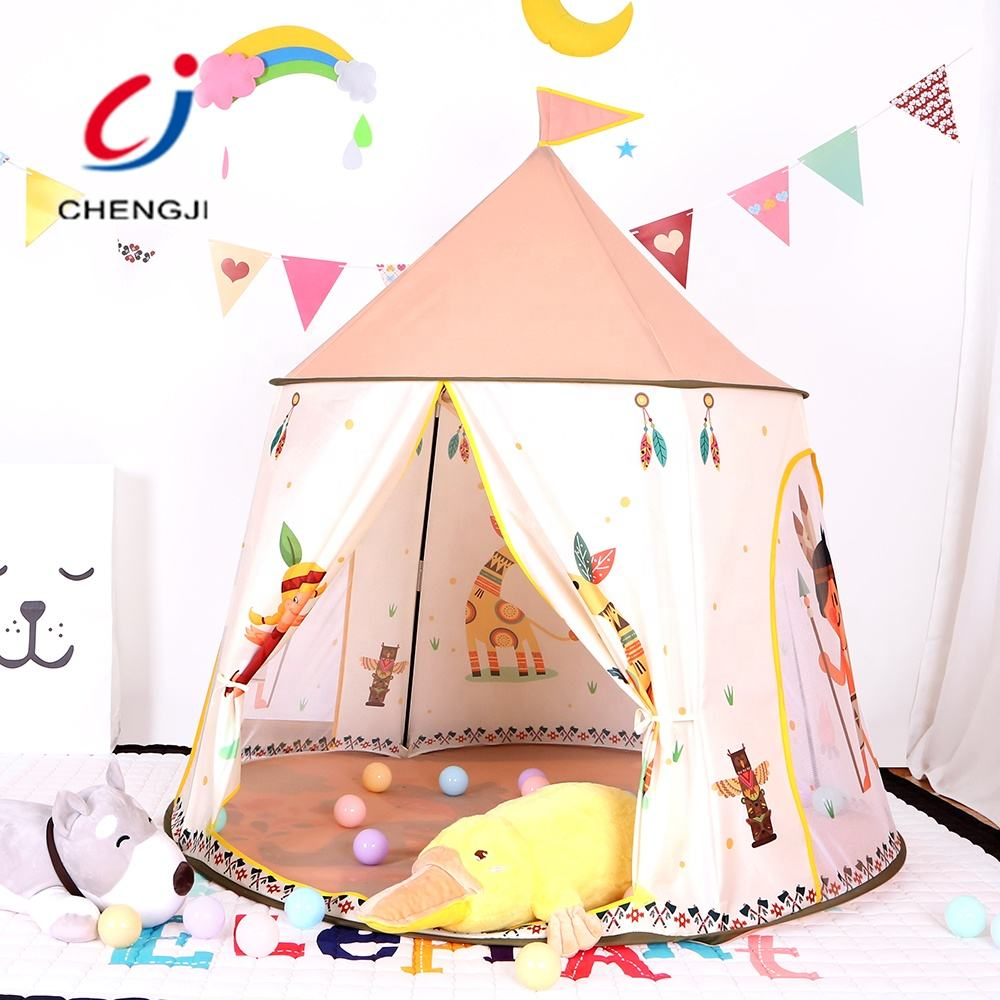 Kids indoor foldable teepee children playing sleeping hut toy tent playhouses