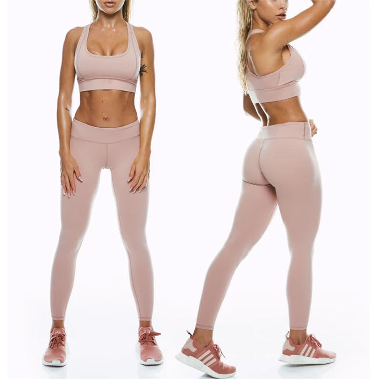 Personalized Yoga Pants And Sports Bra Custom Band Custom Made Sports Bra