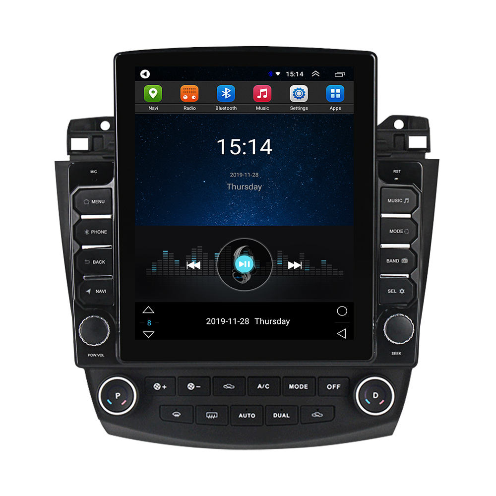 Mekede Tesla Android 2.5D Screen Ips Dsp Auto Dvd-speler Voor Honda Accord 7 2003-2007 2 + 32gb 4G Lte Wifi Gps Bt Stereo Audio Swc