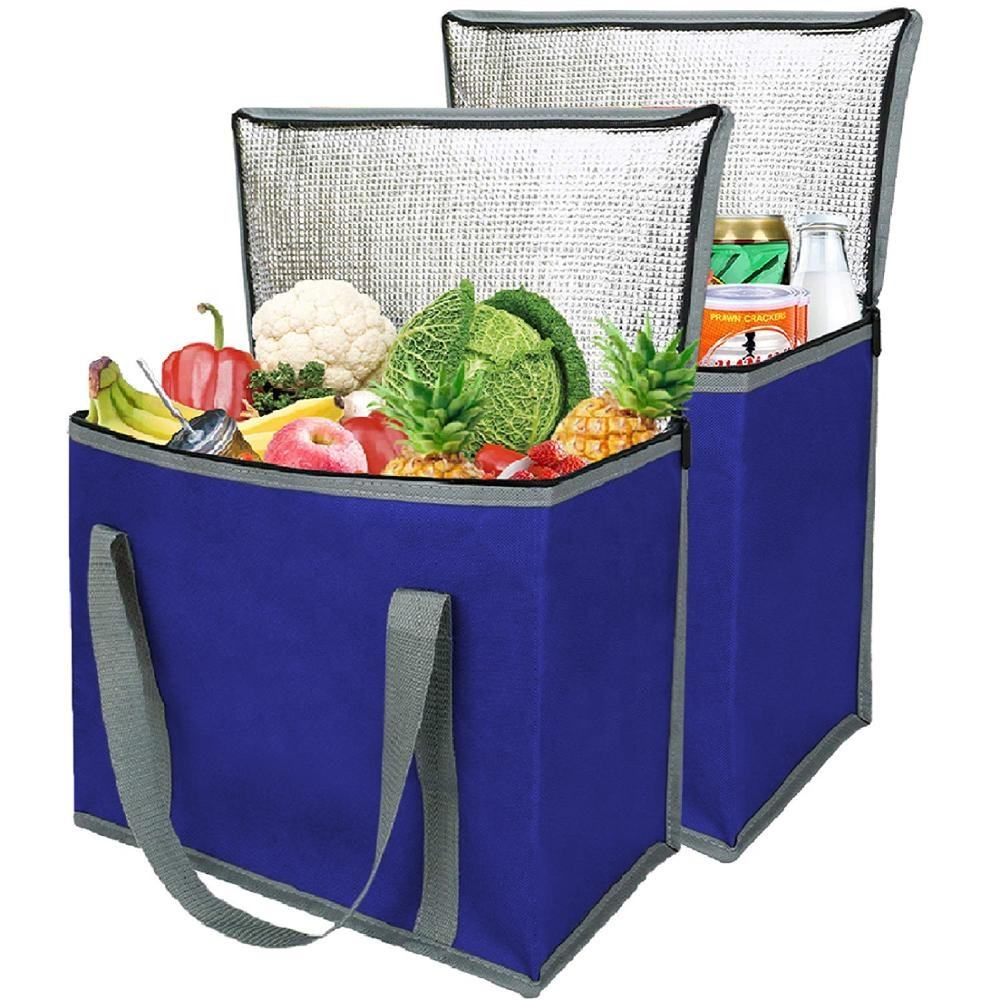 Custom Non-woven Isothermische Grote Ice Cooler Tote Bag/Geïsoleerde Aluminium Folie Non Woven Zachte Lunch Picknick Opvouwbare tas