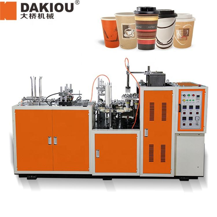 ZB-D DAKIOU Fully Automatic Wenzhou Disposable Paper Coffee Carton Cup Plate Forming Making Machine