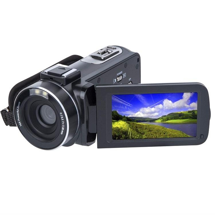 2.7K FHD 3.0 Inch IPS Touch Screen 16x Zoom Digital Video Camera Remote Control for Youtube vlogging