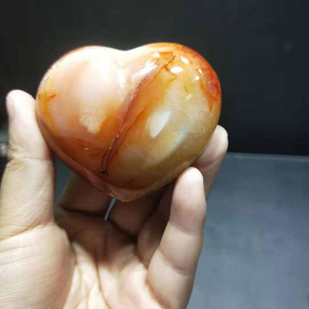 Hot Sale Wholesale Reiki Gemstone Healing Stone Natural Carnelian Crystal Heart For Decoration