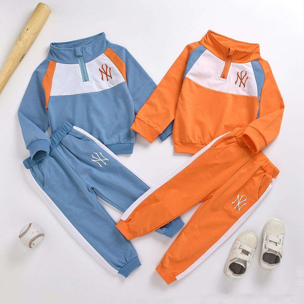 New style fashion Toddler Boys 2 Piece Clothing Set Long Sleeve Sweatshirts and Pants Cotton sport Outfit